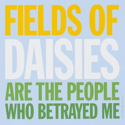 John Giorno, 'Welcoming the Flowers - Daisies', 2007