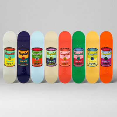 Andy Warhol, 'Colored Campbell's Soup Cans Skateboard Decks', 2017