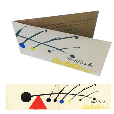 "Alexander Calder, '""Mobiles de Calder"", Invitation Opening of the Grand Prix International de Sculpture- Biennale de Venise ', 1952"