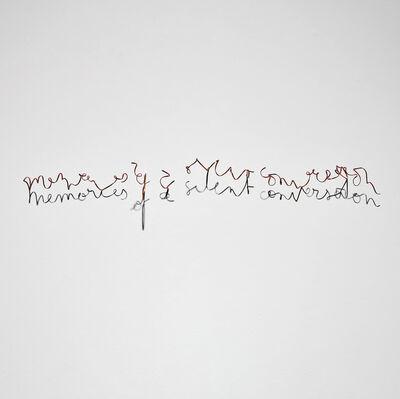 Fred Eerdekens, 'Memories of a Silent Conversation', 2012
