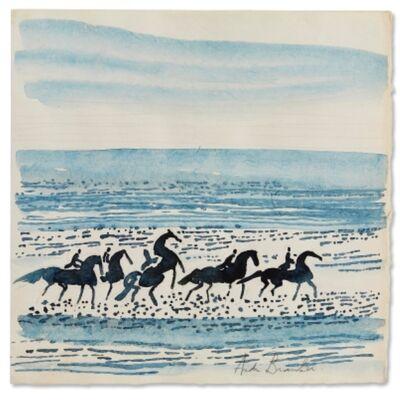 Andre Brasilier, 'Horses on the Beach', 1986