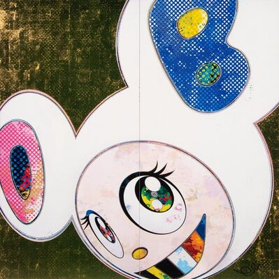 Takashi Murakami, 'DOB in Pure White (Pink & Blue)', 2013