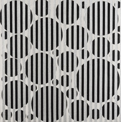 Rico Gatson, 'Untitled (Black Dots and Silver Lines', 2016