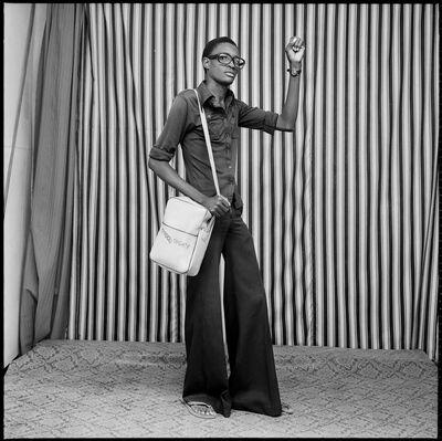 Malick Sidibé, 'Jeune homme avec pattes d'elephant', 1977
