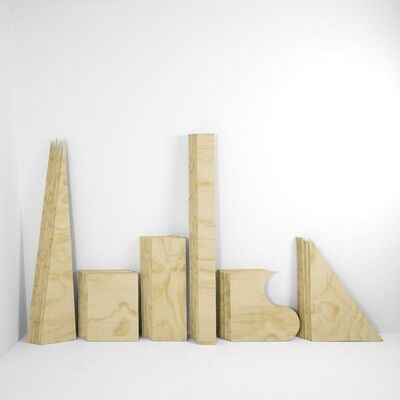 Chris Shepherd, 'Six Sheets of Plywood Cut Into Thirty Six Pieces of Equal Volume', 2018