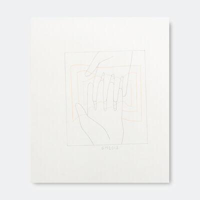 Geoff McFetridge, 'Hand Square Orange Wiggles', 2018