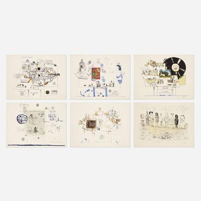 Saul Steinberg, 'Six Drawing Tables portfolio', 1970