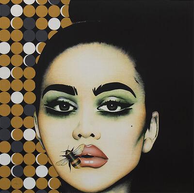 "Anja Van Herle, '""Hey Honey"" - pop art, contemporary, fashion, beauty, bee, portrait, emotions', 2020"