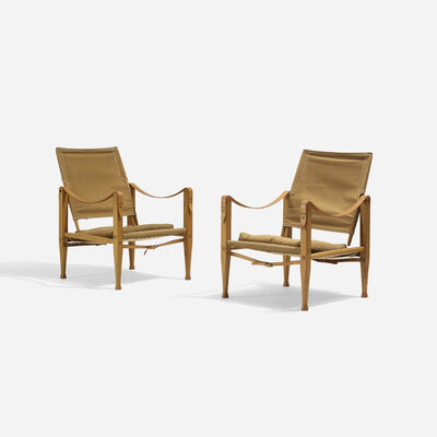 Kaare Klint, 'Safari Chairs, Pair', 1933