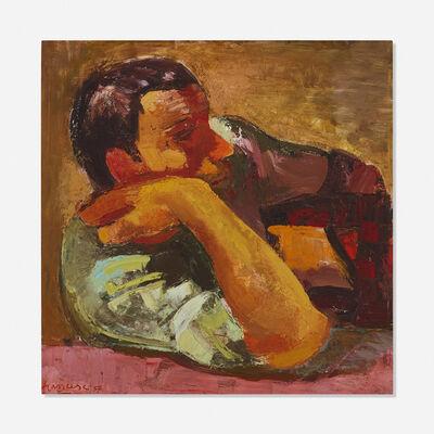 Franco Francese, 'Contadino all' Osteria', 1957