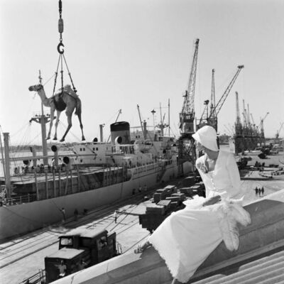 Gian Paolo Barbieri, 'Jill Kennington, Missoni, Port Sudan', 1974