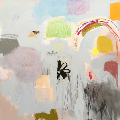 Emily Filler, 'Untitled (black flower+rainbow) ', 2019