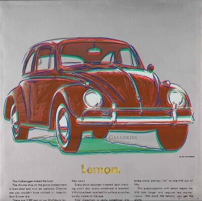 Andy Warhol, 'Volkswagen, 1985 (#358, Ads) ', 1985