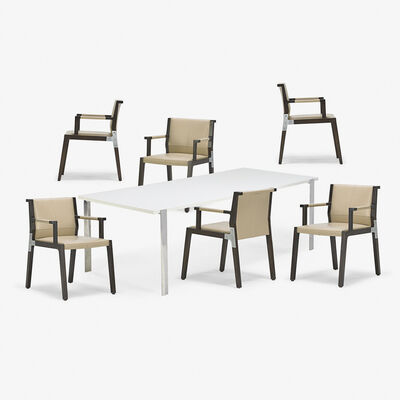 Holly Hunt, 'Dining table and set of six armchairs, USA'