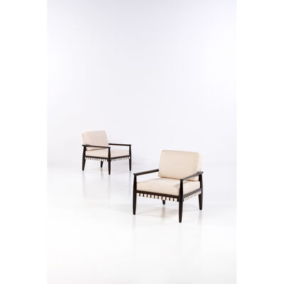 Tommi Parzinger, 'Pair of Armchairs', 1957