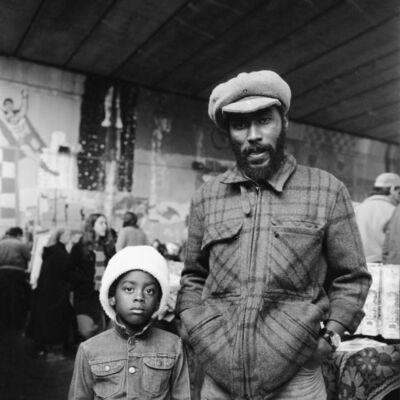 Charlie Phillips, 'George and his Son, Marlin, Acklam Road', ca. 1972