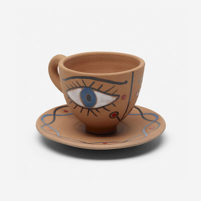 Jean Cocteau, 'La Dame Etonnee cup and saucer', 1958