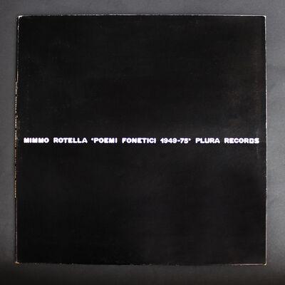 Mimmo Rotella, 'Poemi fonetici',  1949-75