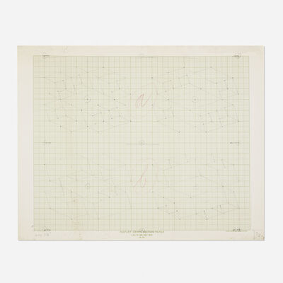 Josef Albers, 'sketch for a Structural Constellation', c. 1969
