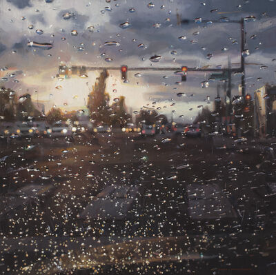 Dianne L. Massey Dunbar, 'Rain on Windshield, Morning Commute', 2018