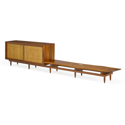 Phil Powell, 'Fine custom cabinet and bench on platform, New Hope, PA'