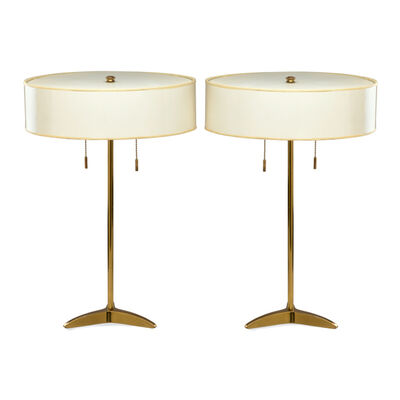 Stiffel, 'Pair of table lamps with tripod bases', ca.  1950s