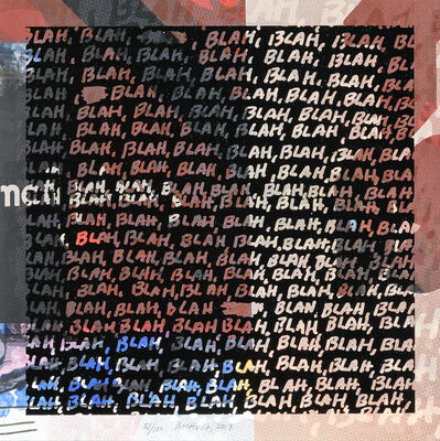 Mel Bochner, 'Blah Blah Blah & Background Noise', 2013