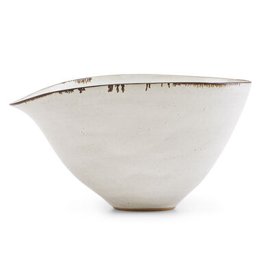 Lucie Rie, 'Fine large bowl with indented lip, England', ca. 1958