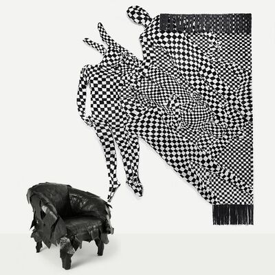 Olaf Breuning, 'Black and white pattern people', 2017