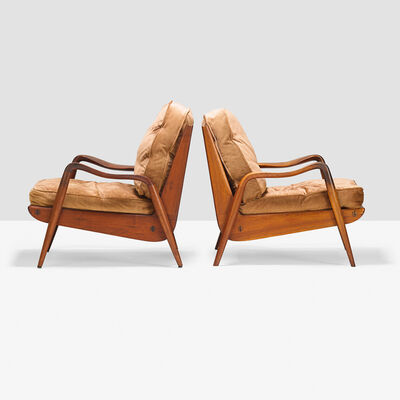 Phil Powell, 'Pair of New Hope lounge chairs, New Hope, PA', 1960s
