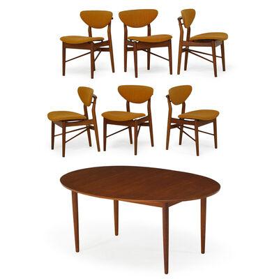 Finn Juhl, 'Dining Table And Six Chairs, Denmark', 1950s