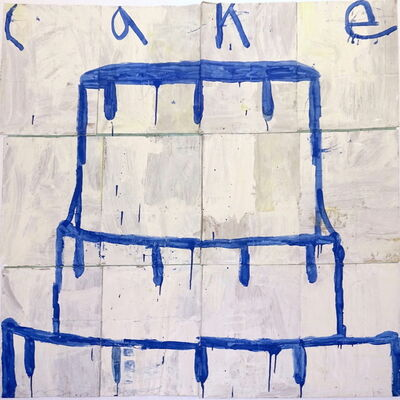 Gary Komarin, 'Cake - Blue on White', 2016