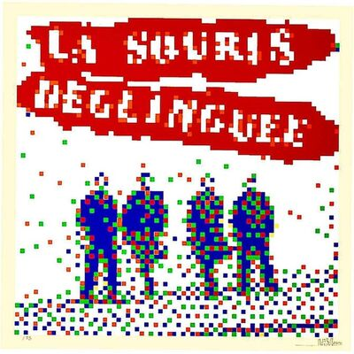 Invader, 'LA SOURIS DEGLINGUEE (Limited edition Print)', 2014