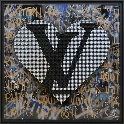 Thomas Krief, 'LV HEART GOLD & BLUE', 2021