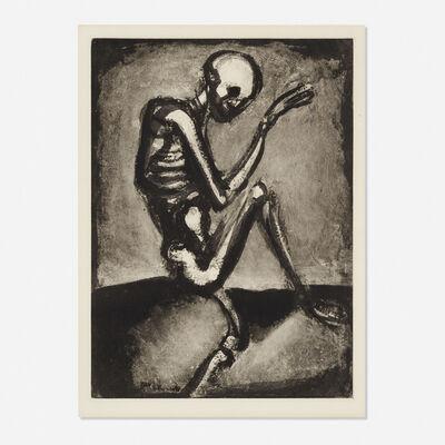 Georges Rouault, 'Squelette from Les Fleurs du mal', 1926