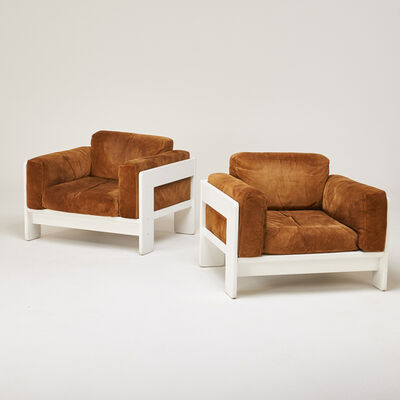 """Afra and Tobia Scarpa, 'Pair of """"Bastiano"""" lounge chairs', 1970s"""