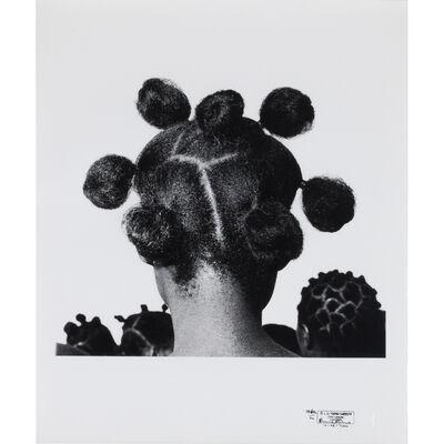 J.D. 'Okhai Ojeikere, 'Mkpuk Eba (hairstyles)', 1974