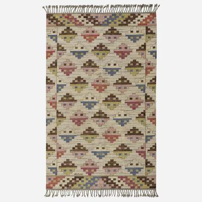 Marta Maas-Fjetterstrom AB, 'Munka Ljungby flatweave carpet', 1933