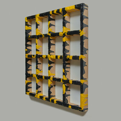 Sigfredo Chacón, 'Grid Yellow/Black #2', 2019