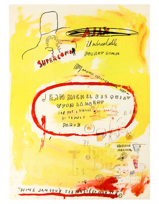 Jean-Michel Basquiat, 'SUPERCOMB (Original printing 1988 Poster)', 1988
