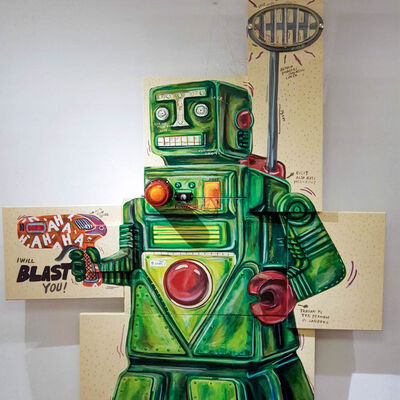 Naufal Abshar, 'Robot Gedek', 2018