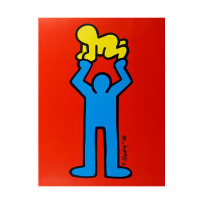 Keith Haring, 'Man Holding Radiant Baby', 1988
