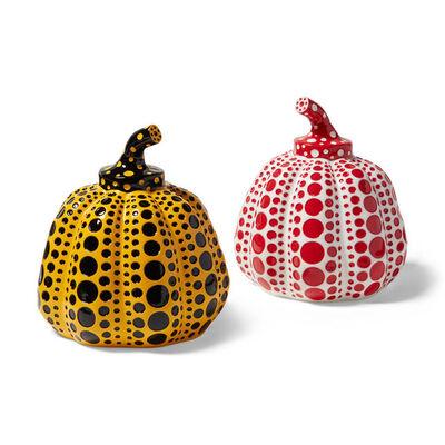 Yayoi Kusama, 'Yayoi Kusama Pumpkins Collectible Set of 2, White/Red & Yellow/Black', 2015