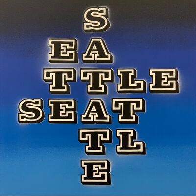 Ben Eine, 'SEATTLE, Vandal Blue', 2018