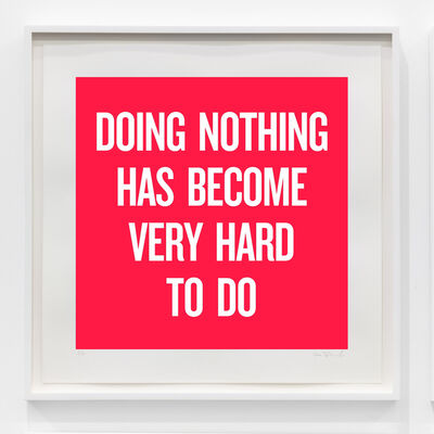 Douglas Coupland, 'Doing nothing has become very hard to do', 2020
