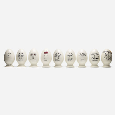 La Gardo Tackett, 'Eggheads, collection of nine', 1958-59