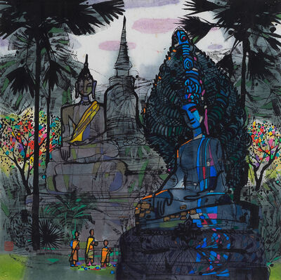 Li Fuyuan, 'Temple in Thailand'