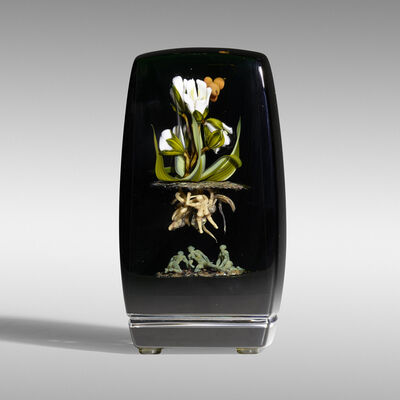 Paul Stankard, 'Tall Botanical paperweight', 1987