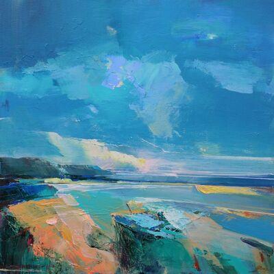 Magdalena Morey, 'Shoreline 2 - abstract coastal seascape painting', 2020