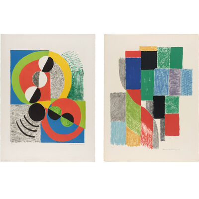 Sonia Delaunay, 'ORIFLAMMES; AFFREUX JOJO', 1968 and 1969